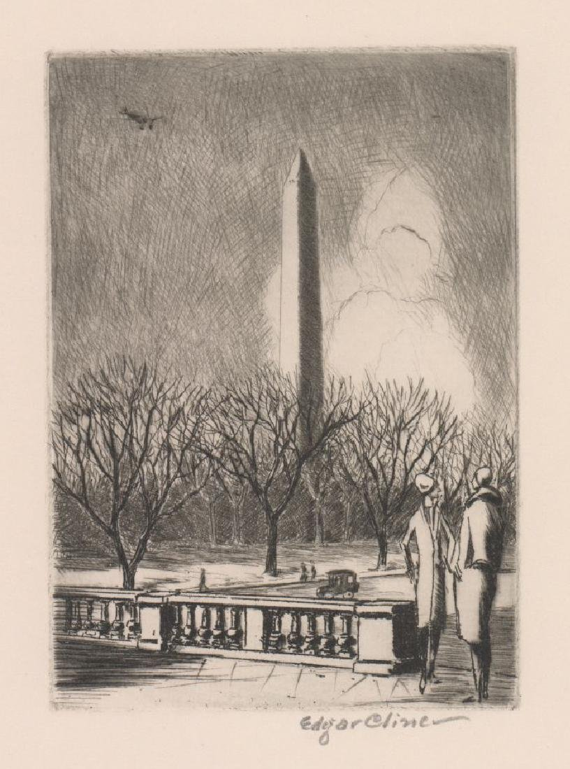 Edgar Cline Etching
