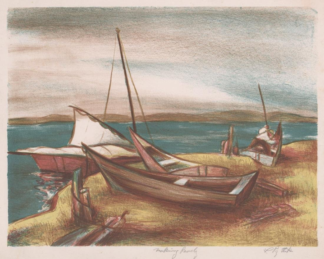 A Signed Mid-Century Lithograph