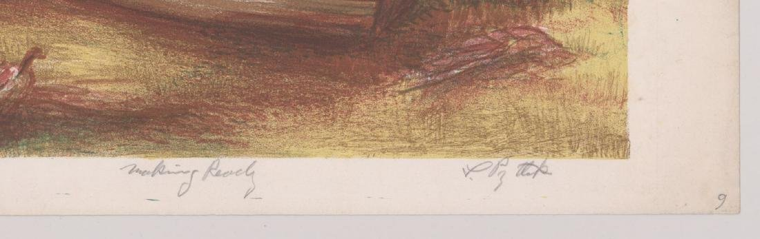 A Signed Mid-Century Lithograph - 3