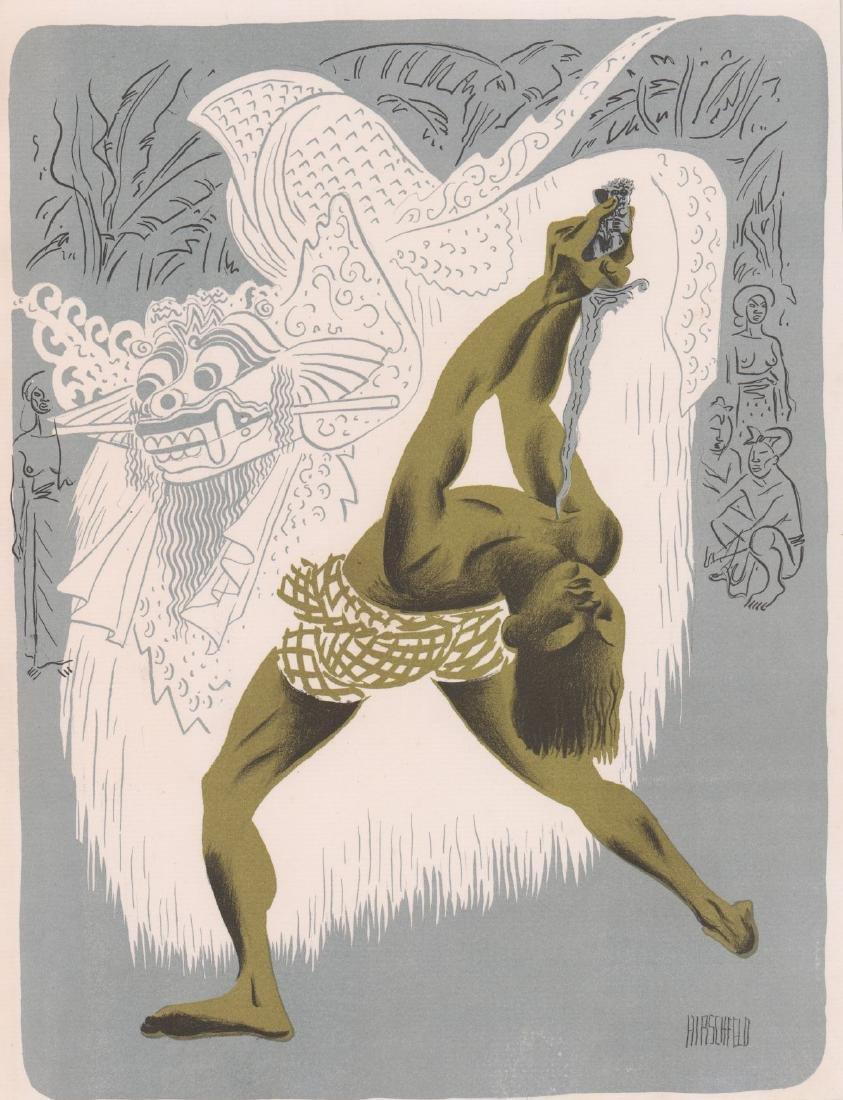 Hirschfeld Lithograph Kris Dancer, Bali