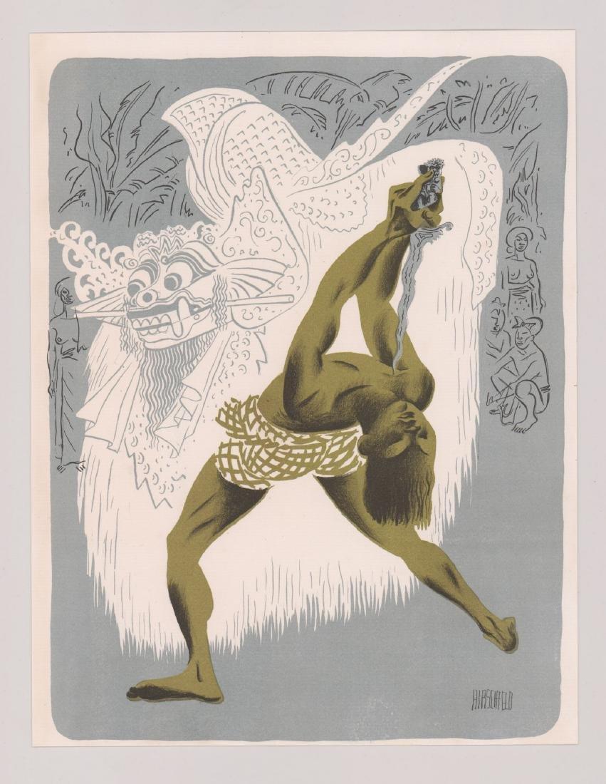 Hirschfeld Lithograph Kris Dancer, Bali - 2