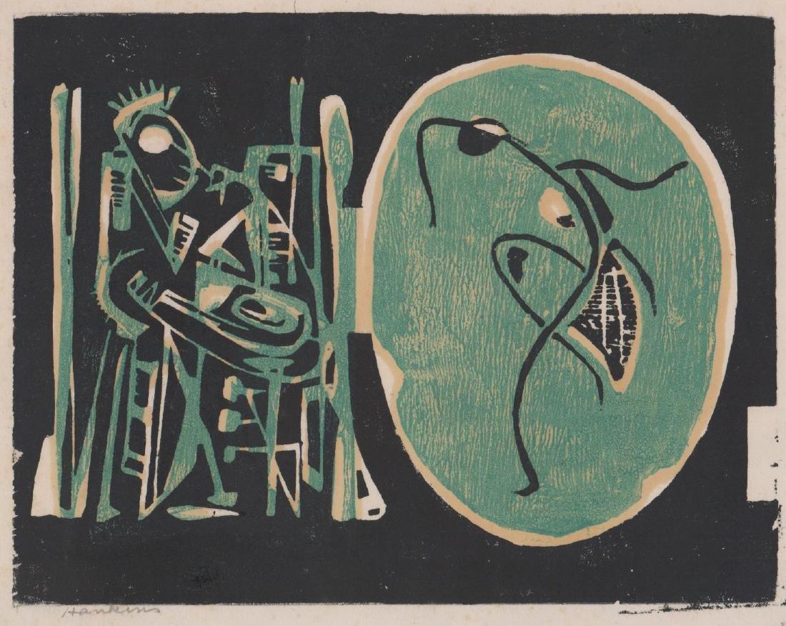 Abraham Hankins Lithograph (1903-1963)