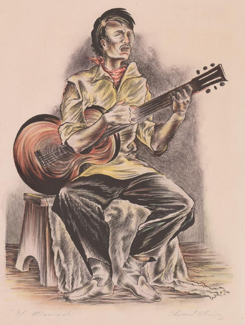 Edward Chavez Lithograph [El Mariachi]