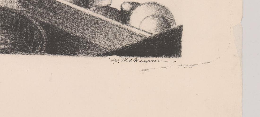 An Old Still Life Lithograph Signed Illegibly - 3