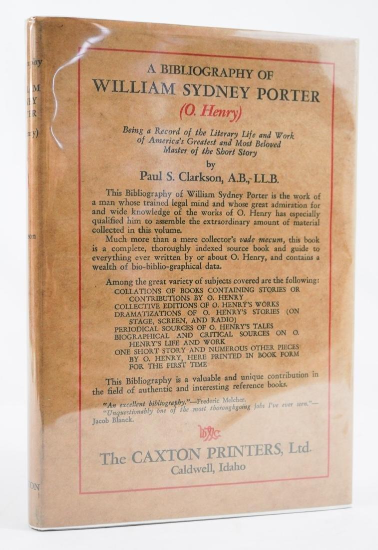 A Bibliography of William Sydney Porter (O. Henry)