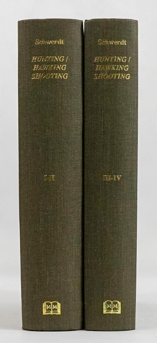 Hunting Hawking Shooting (4 volumes in 2 books)