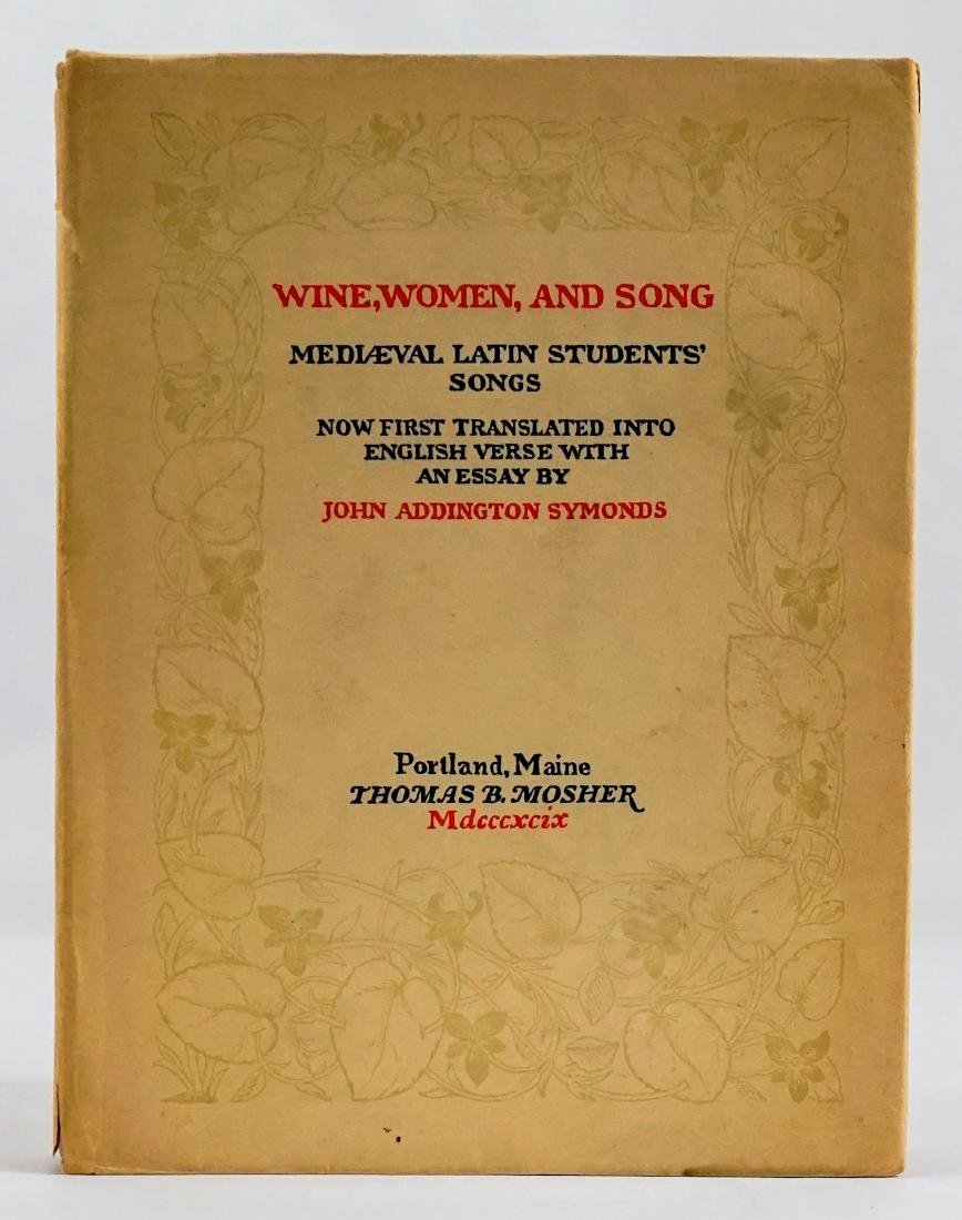 Wine, Women, and Song
