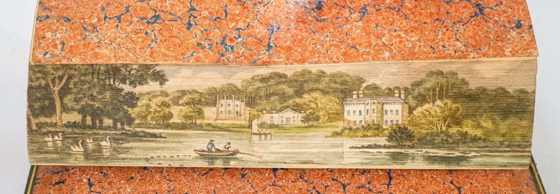 The Fall of Jerusalem 1820- Fore-Edge Painting