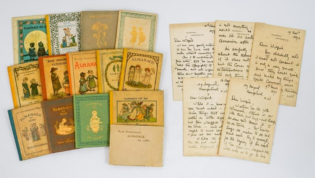 Kate Greenaway Almanack's First Editions Complete