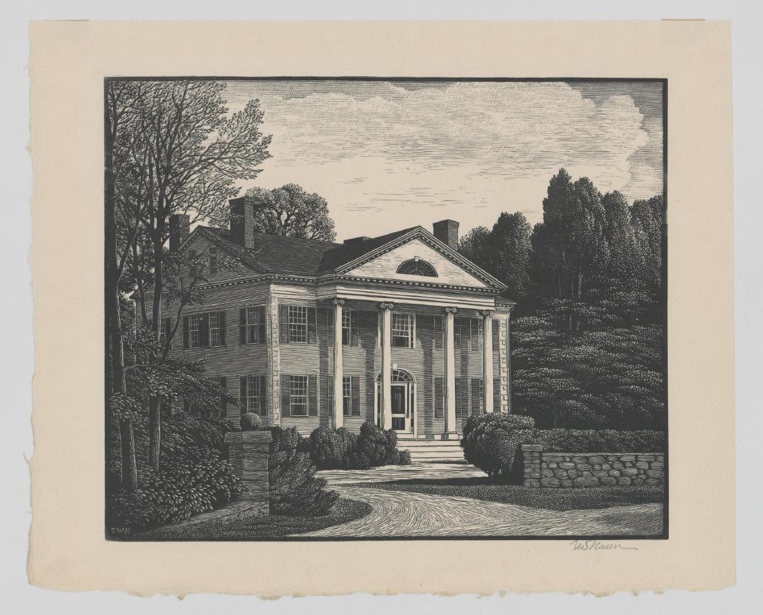 Thomas Nason Wood Engraving [An American Home] - 2