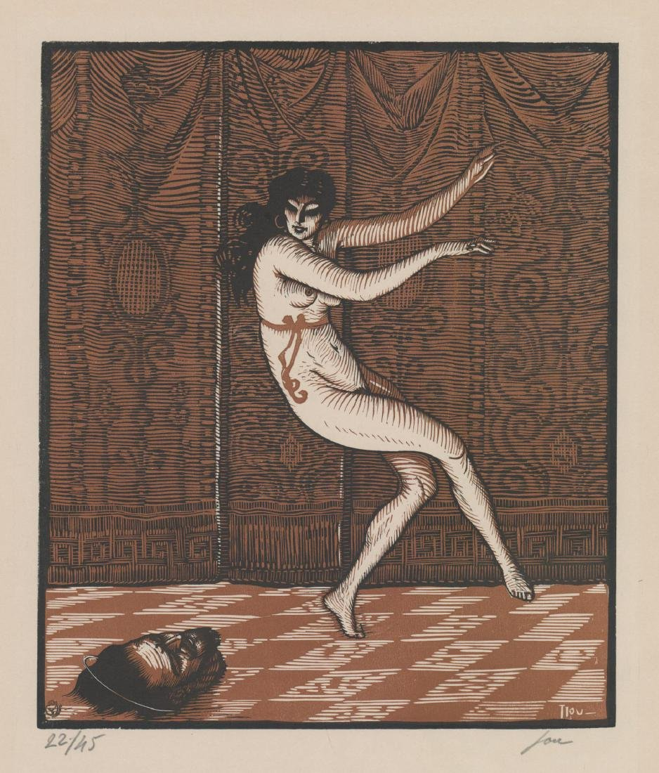 Louis Jou (1881-1968) Color Woodcut