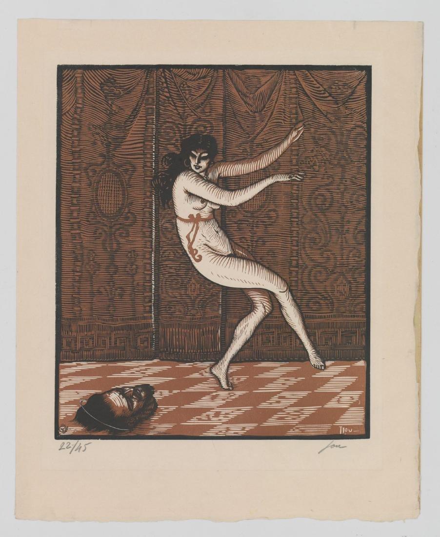 Louis Jou (1881-1968) Color Woodcut - 3
