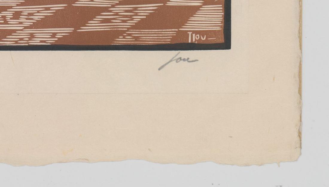 Louis Jou (1881-1968) Color Woodcut - 4