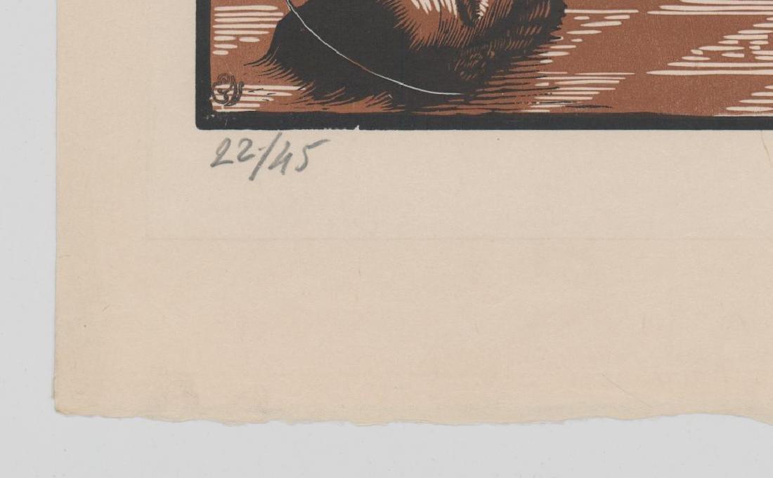 Louis Jou (1881-1968) Color Woodcut - 5