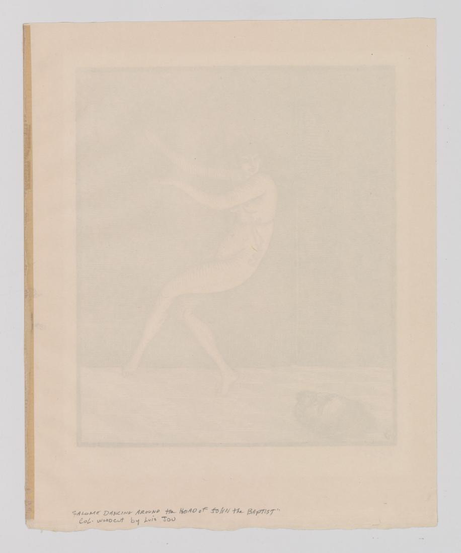 Louis Jou (1881-1968) Color Woodcut - 6