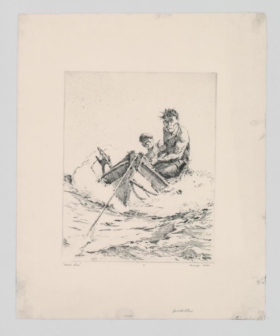 George Gale Etching [Haul Line] - 2