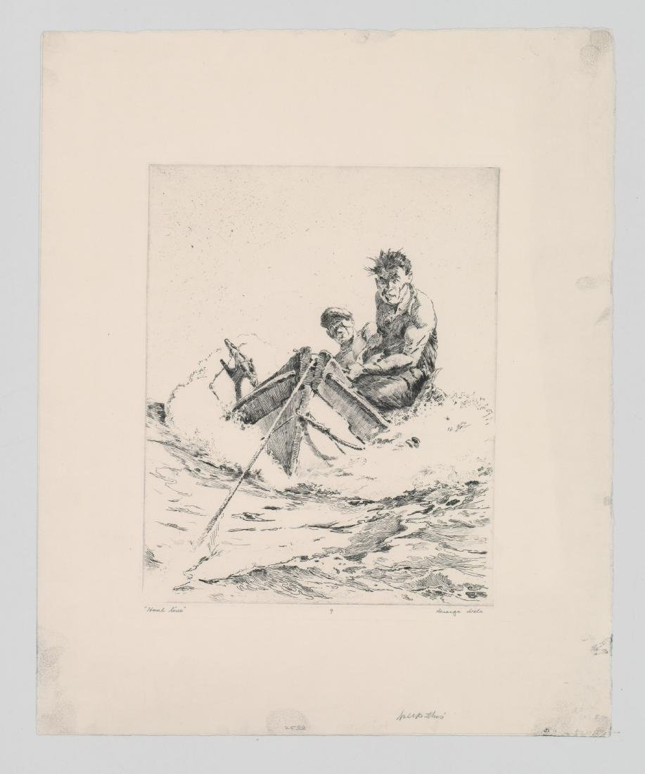 George Gale Etching [Haul Line] - 2