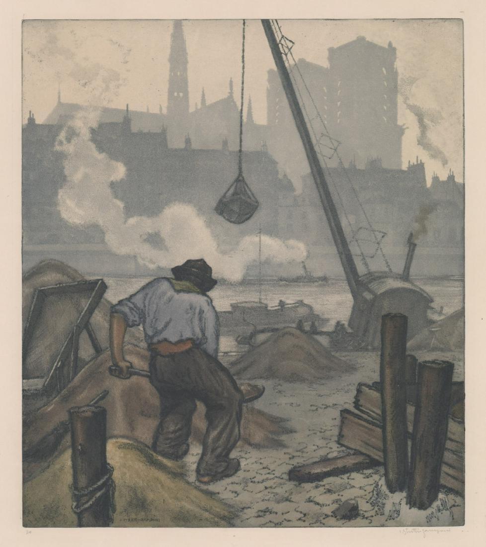 Jaromir Stretti-Zamponi (1882-1959) Etching
