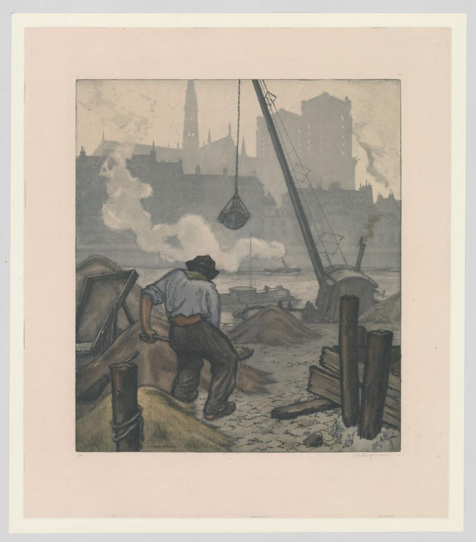 Jaromir Stretti-Zamponi (1882-1959) Etching - 2