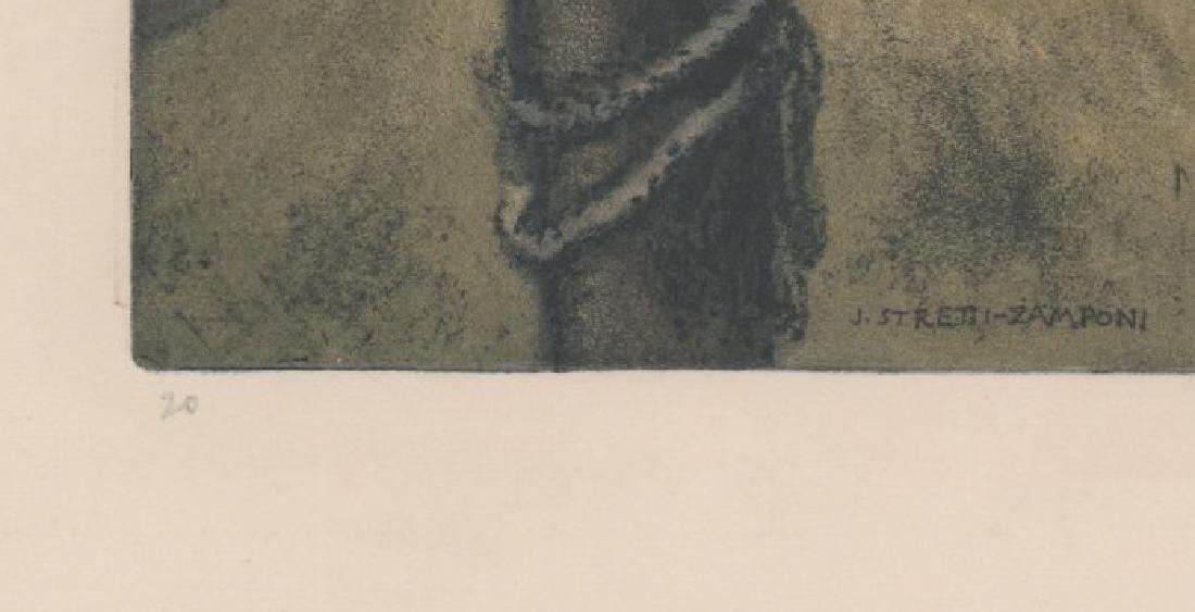 Jaromir Stretti-Zamponi (1882-1959) Etching - 4