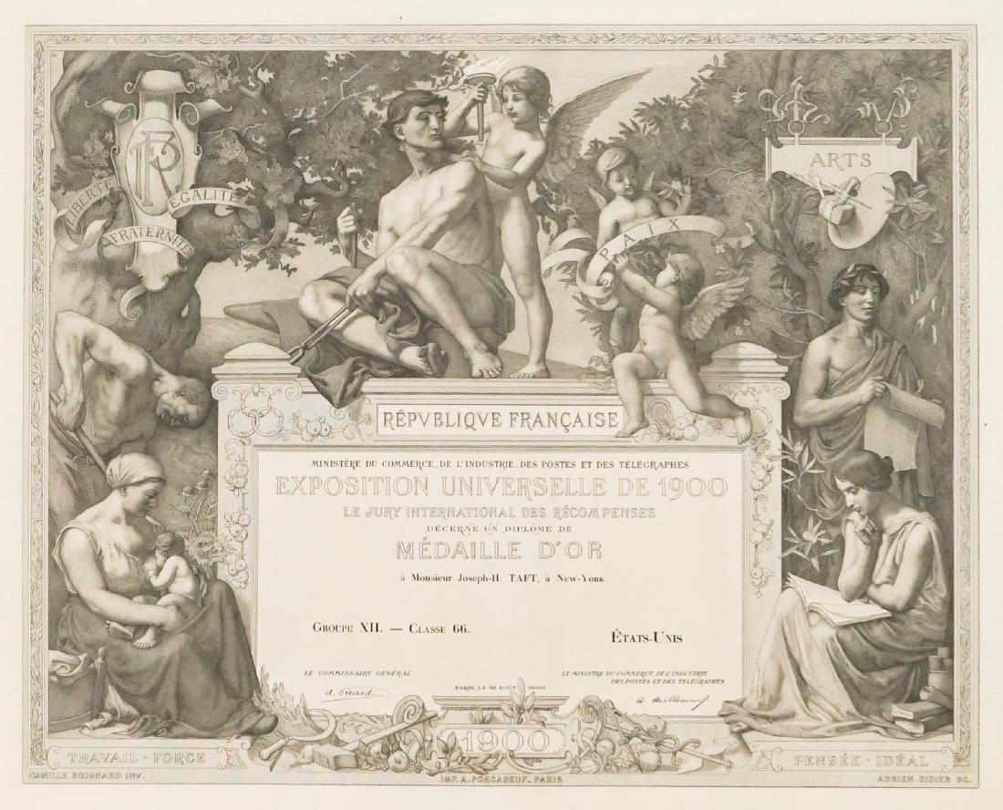Diploma of the International Exposition of 1900