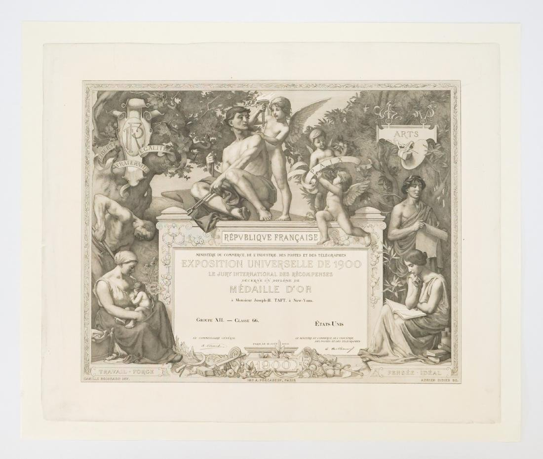 Diploma of the International Exposition of 1900 - 2