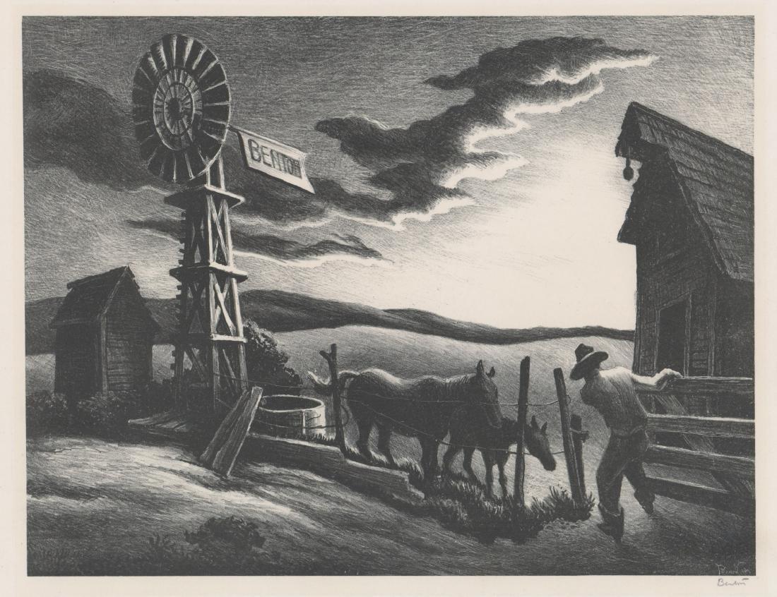 Thomas Hart Benton Original Lithograph