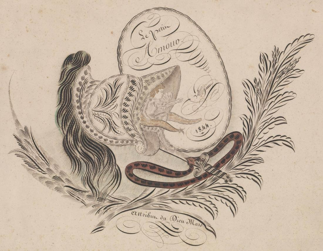 An Antique Spencerian Pen & Ink Drawing