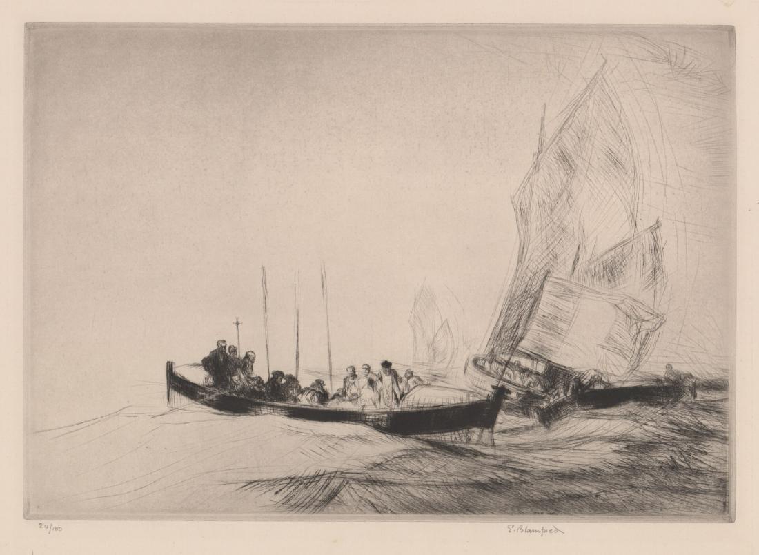 Edmund Blampied (1886 - 1966) Etching