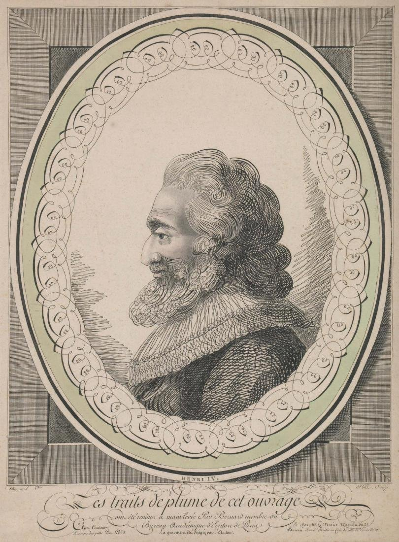 Henry IV Antique Engraving