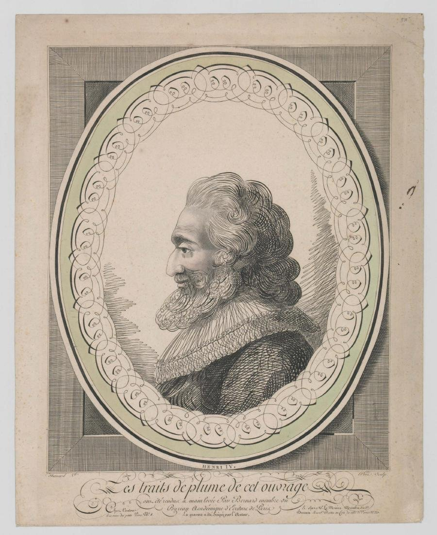 Henry IV Antique Engraving - 2
