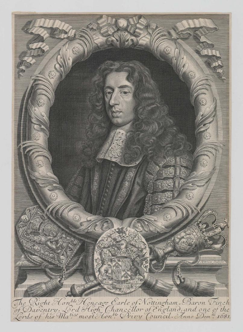 Robert White (1645 - 1703) Engraving Dated 1681