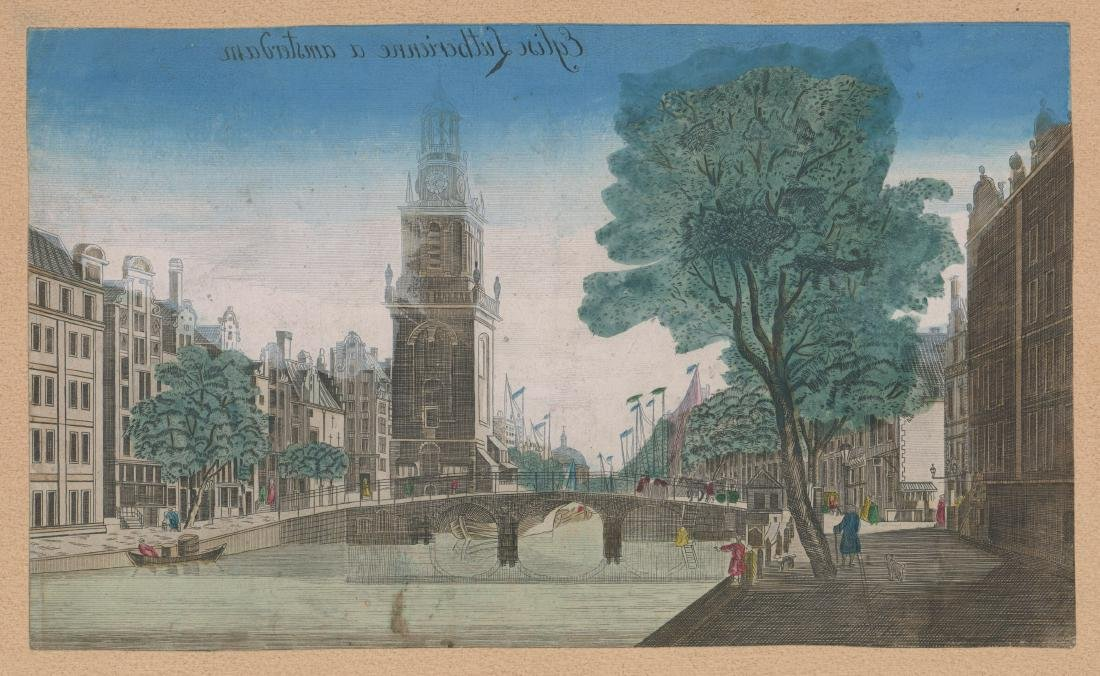 Early Old Lutheran Church Amsterdam Engraving