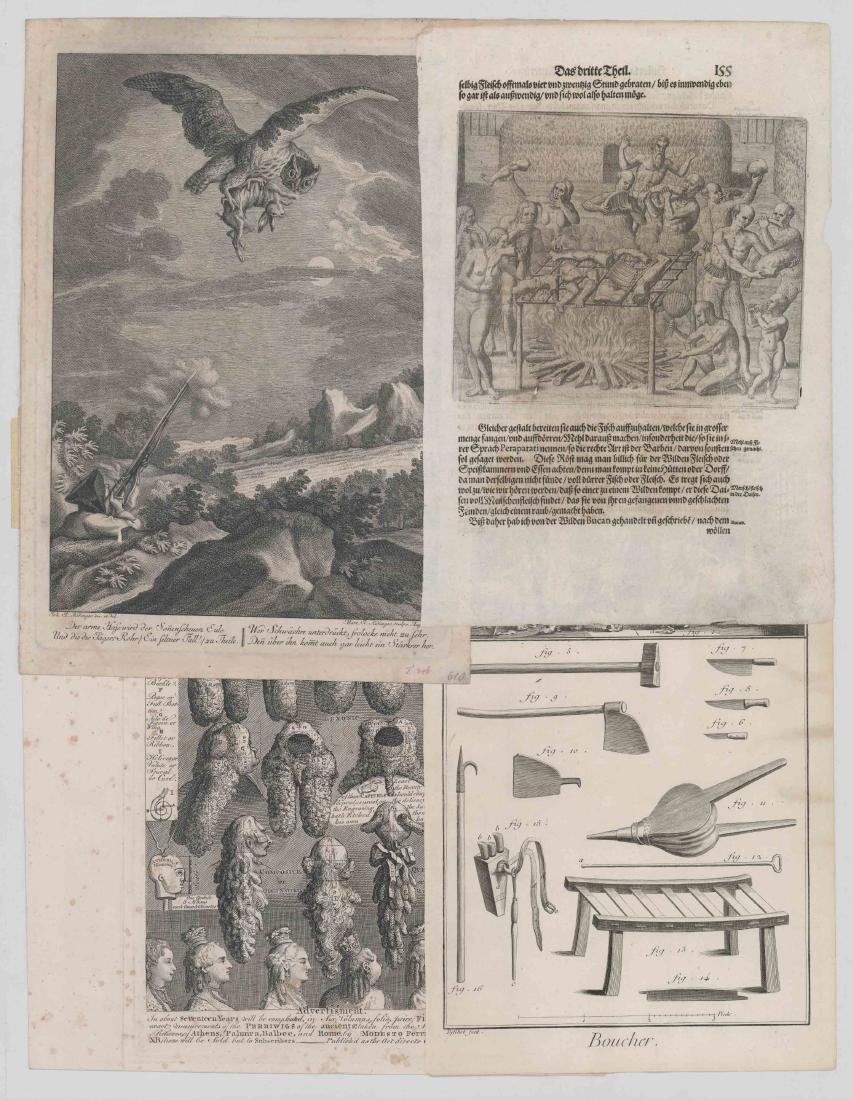 A Group of Antique Prints and Engravings
