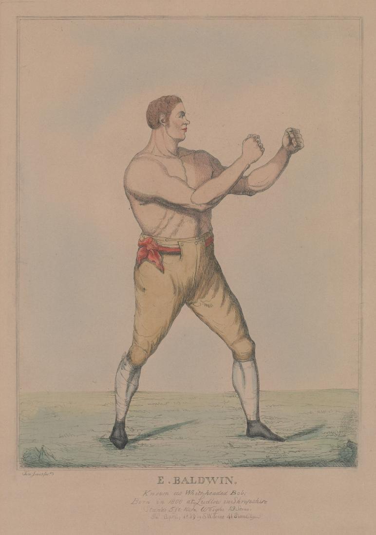 An Antique Boxing Color Etching [E. Baldwin]