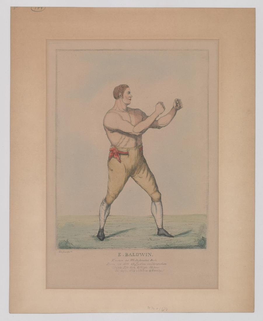 An Antique Boxing Color Etching [E. Baldwin] - 2