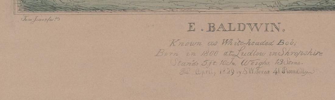 An Antique Boxing Color Etching [E. Baldwin] - 3