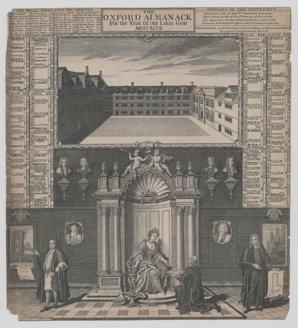 George Vertue (1683 - 1756) Engraving 1747