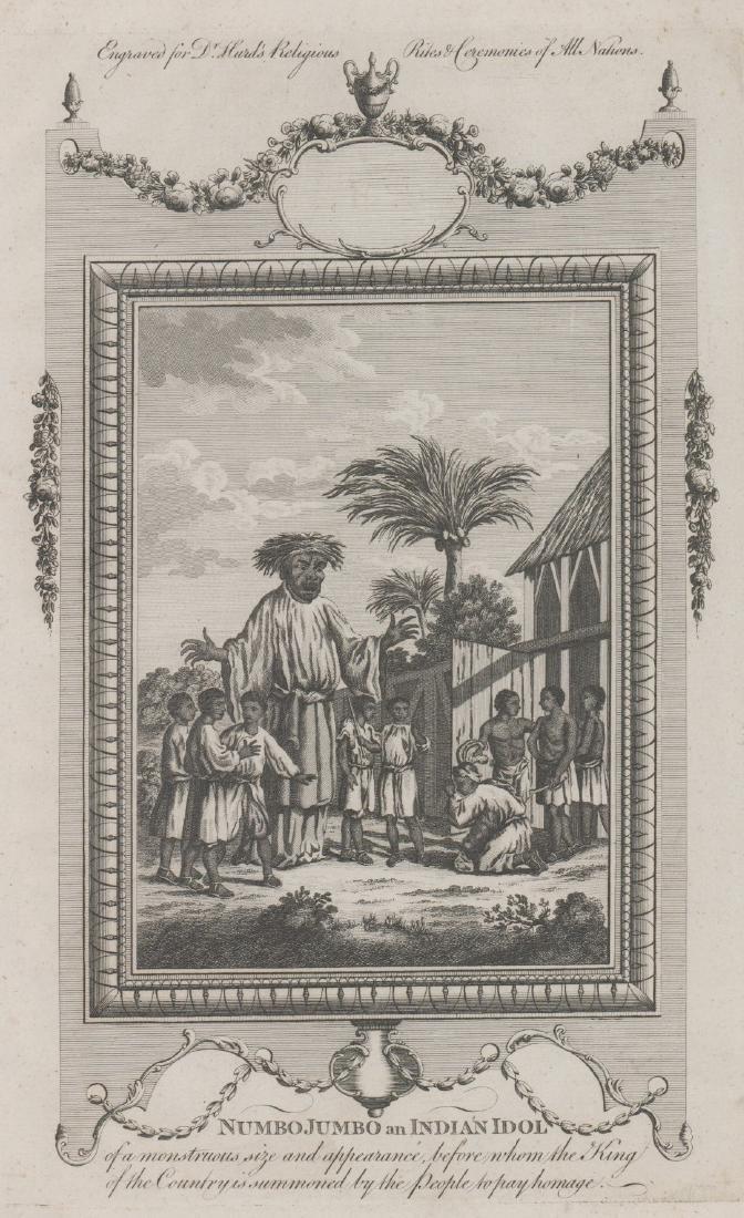 Numbo Jumbo Antique Engraving, Ca. 1790