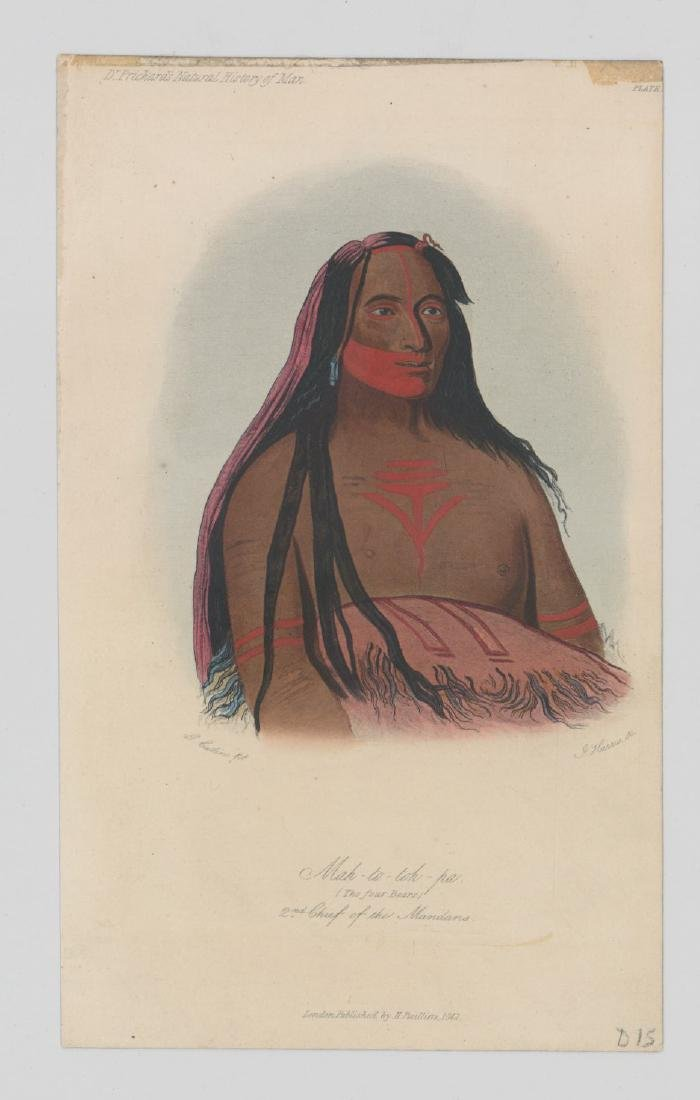 George Catlin Pair of Antique Color Lithographs - 2