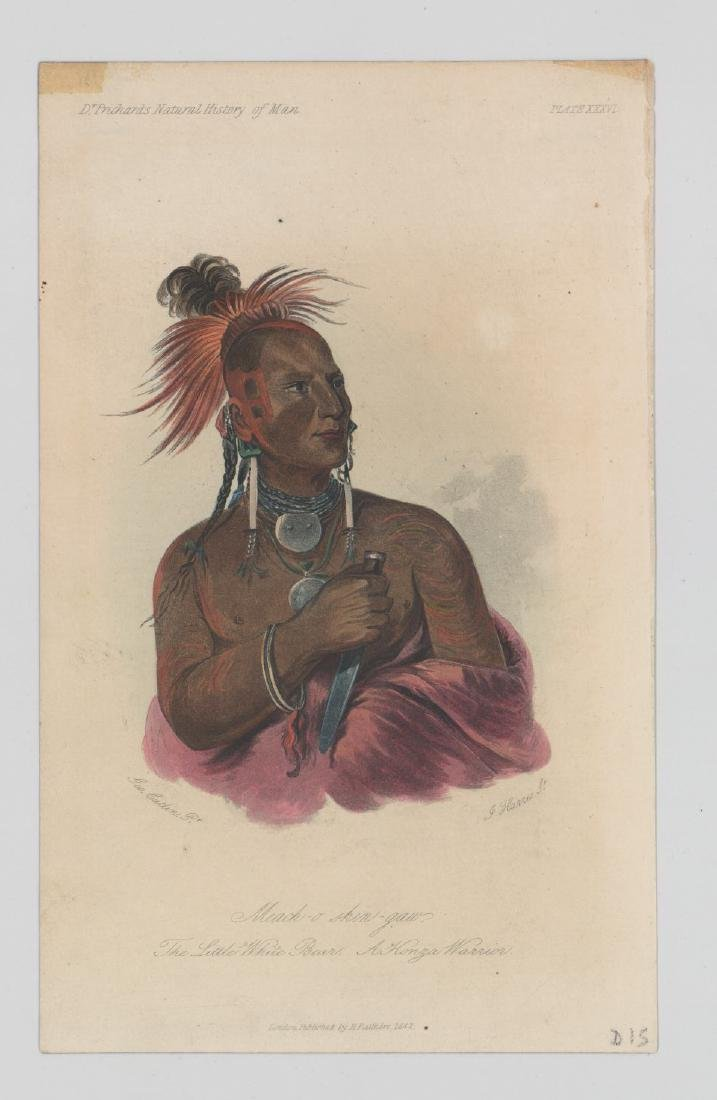 George Catlin Pair of Antique Color Lithographs - 3