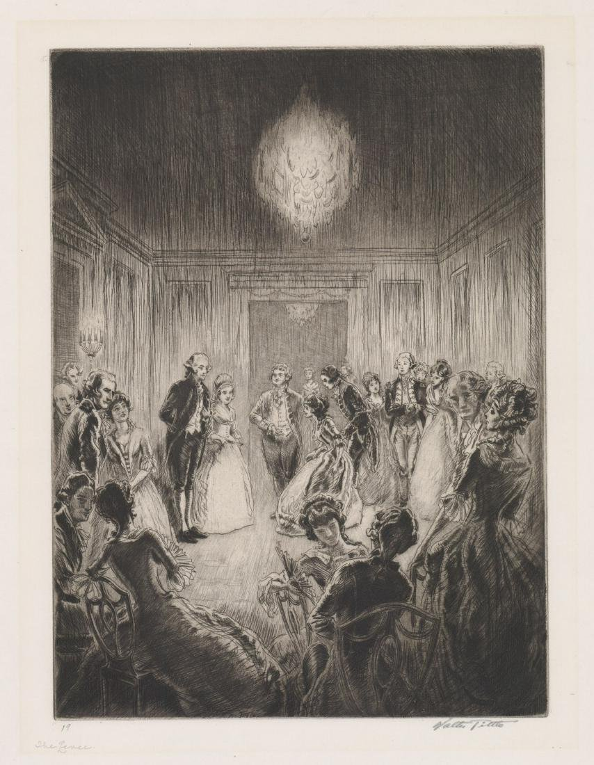 Walter Tittle Large Etching