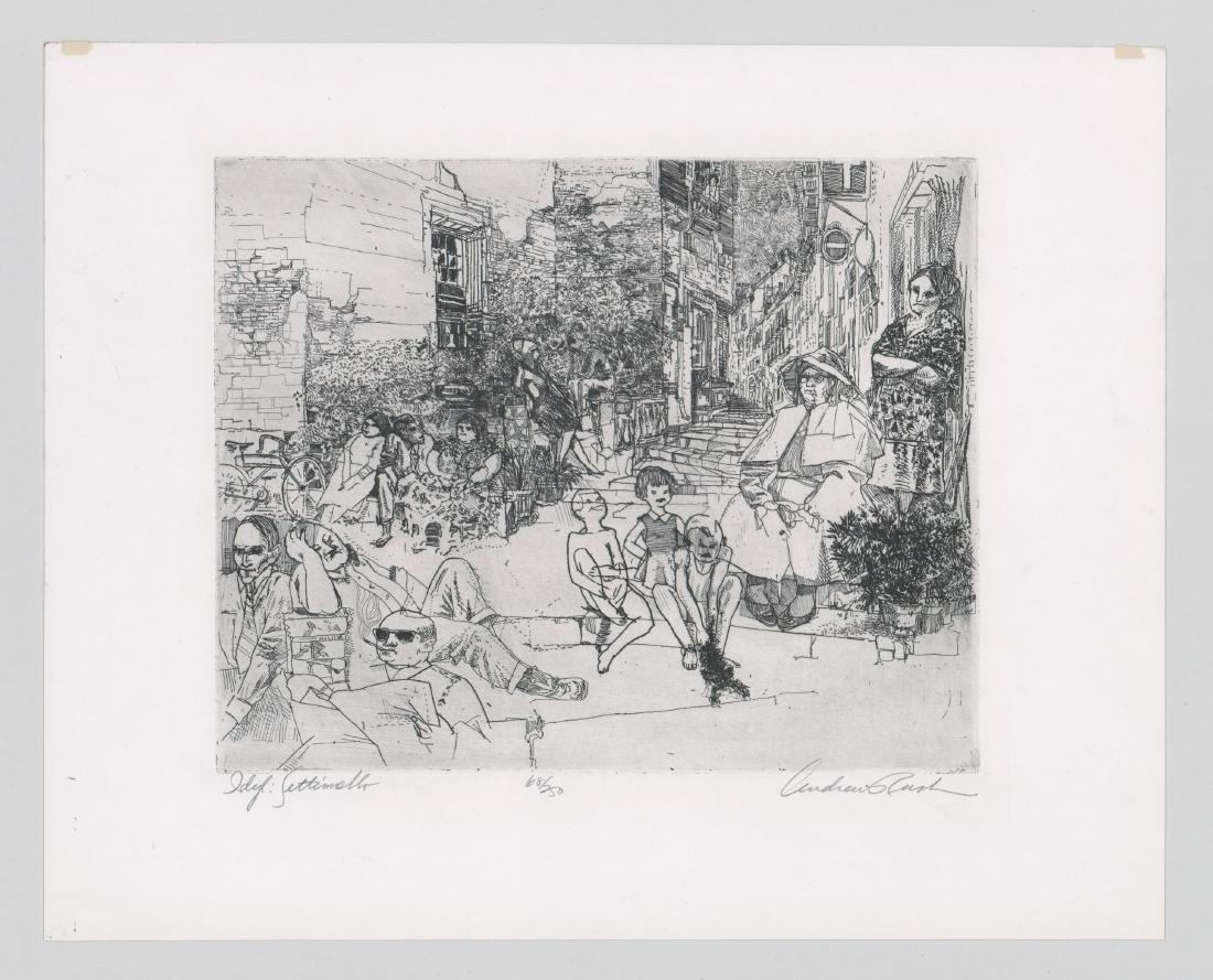Andrew Rush Etching [Idyl Settimello] - 2