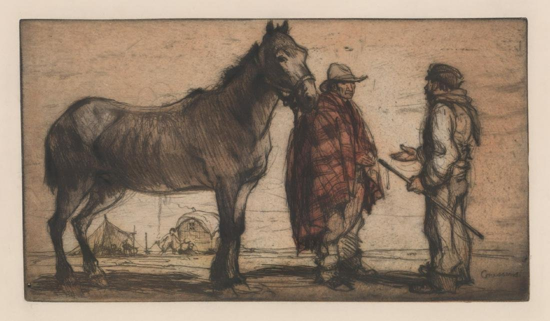 Armand Coussens (1881 - 1935) Etching