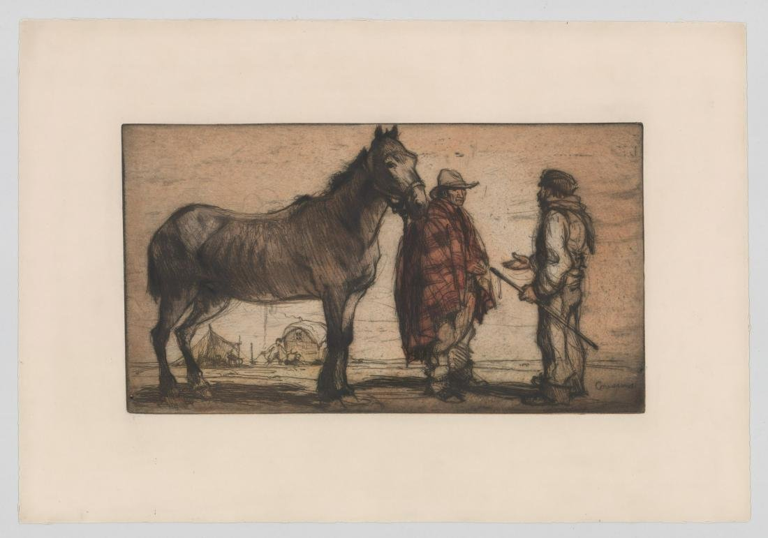 Armand Coussens (1881 - 1935) Etching - 2