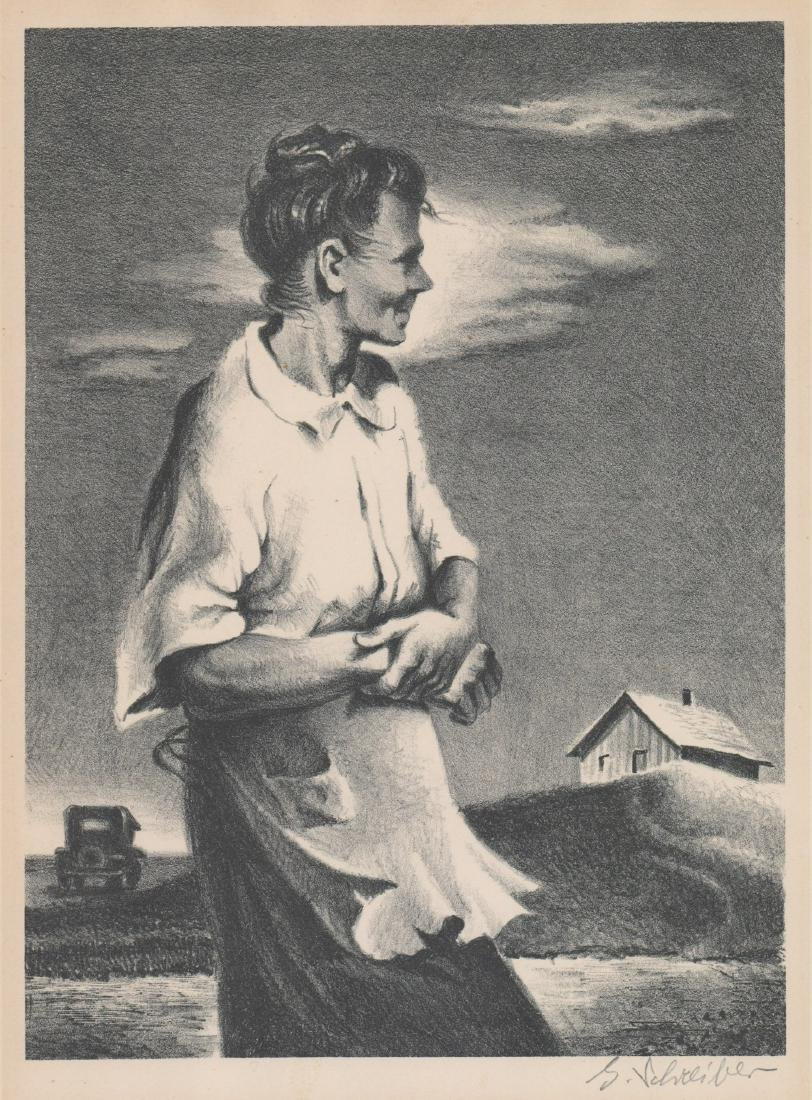 Georges Schreiber (1904 - 1977) Lithograph