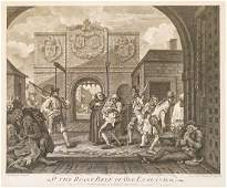 The Gate of Calais by William Hogarth Dated 1749