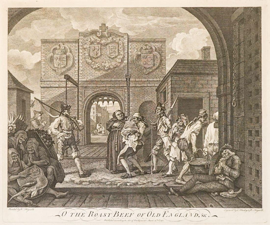 The Gate of Calais by William Hogarth, Dated 1749