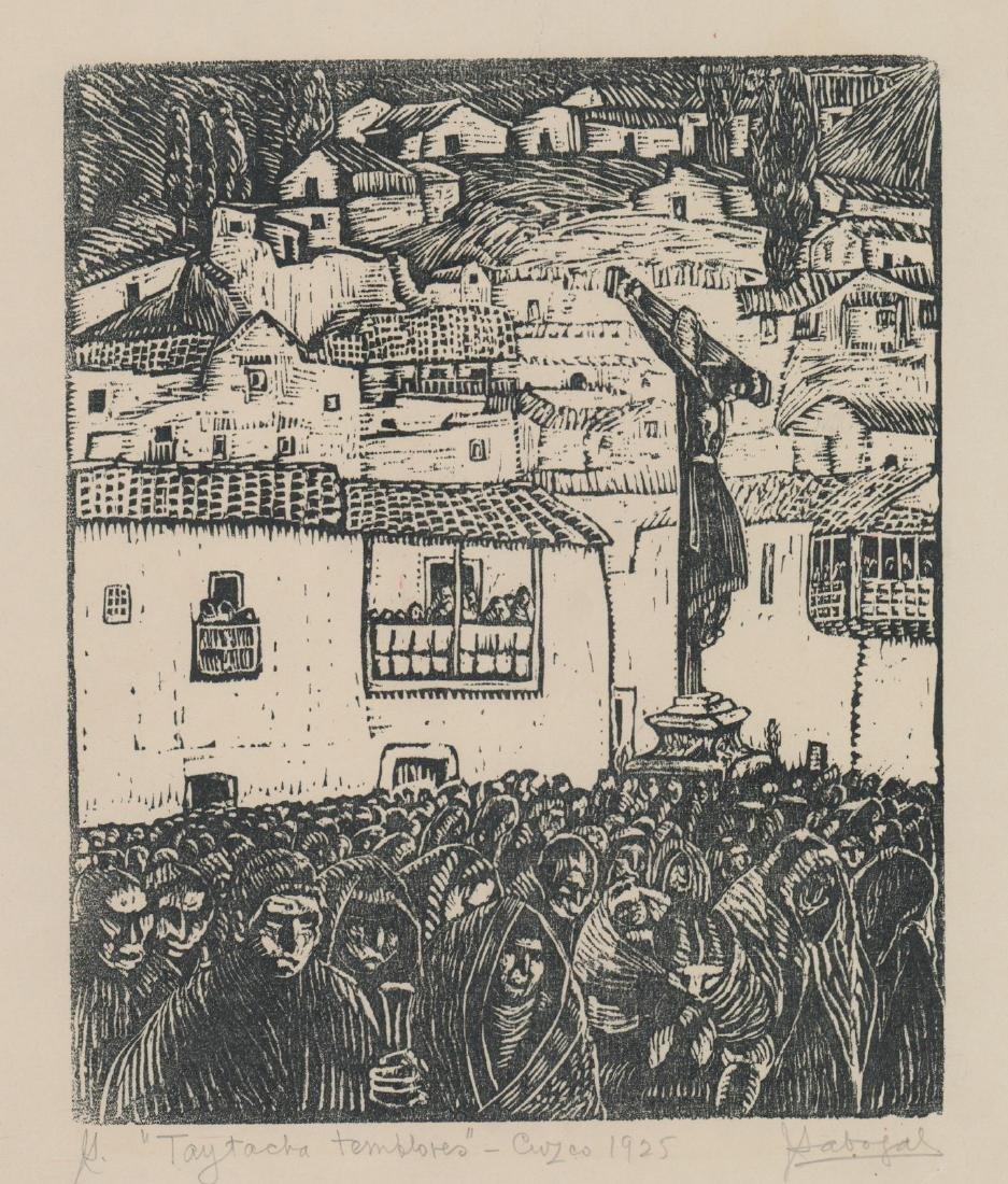 Jose Sabogal Dieguez (1888-1956) Woodcut