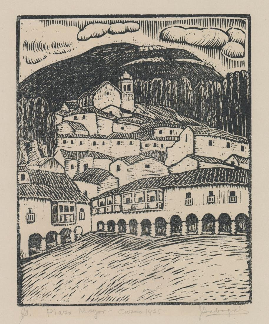 Jose Sabogal Dieguez (1888 - 1956) Woodcut